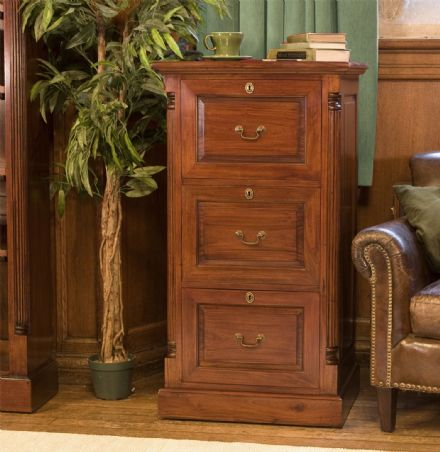 La Roque Three Drawer Filing Cabinet